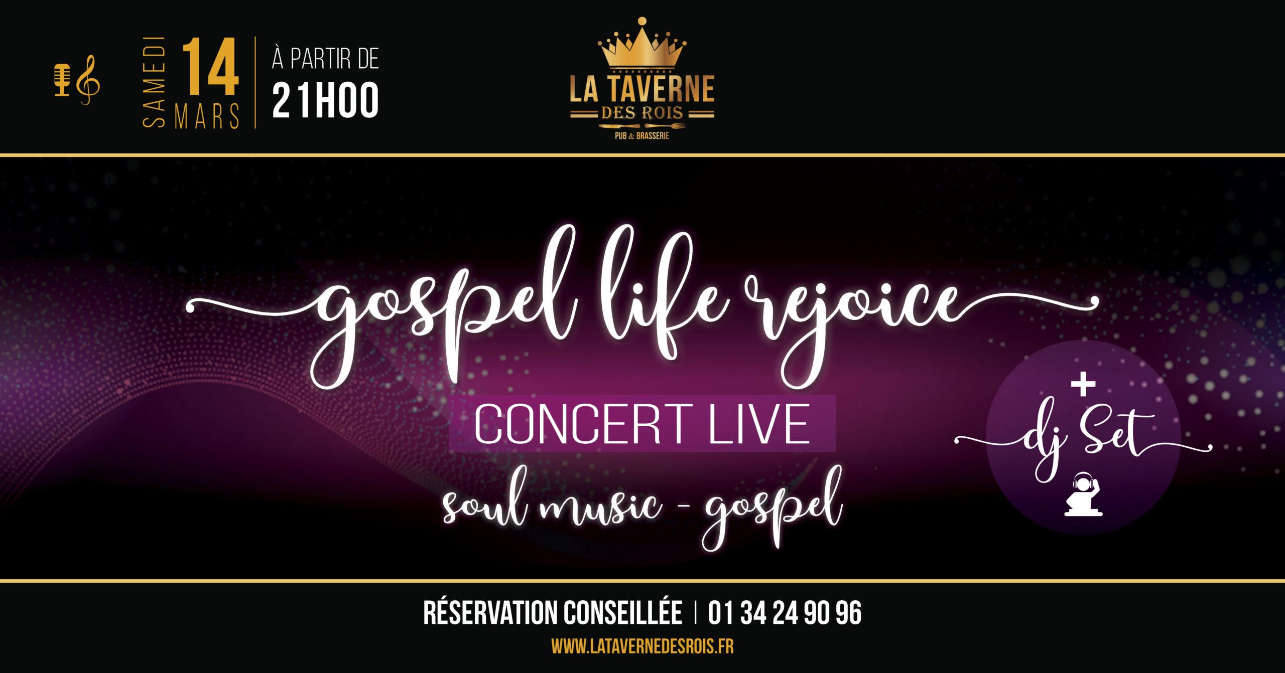La Taverne des Rois - Gospel Life Rejoice - 14 mars
