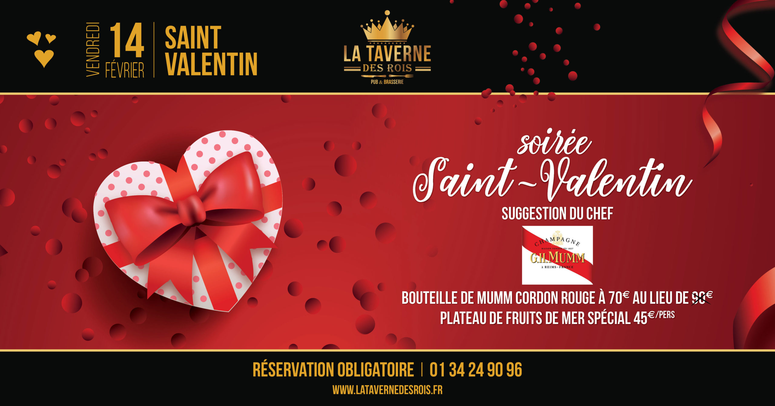 La Taverne des Rois - 14 février - Soirée St Valentin
