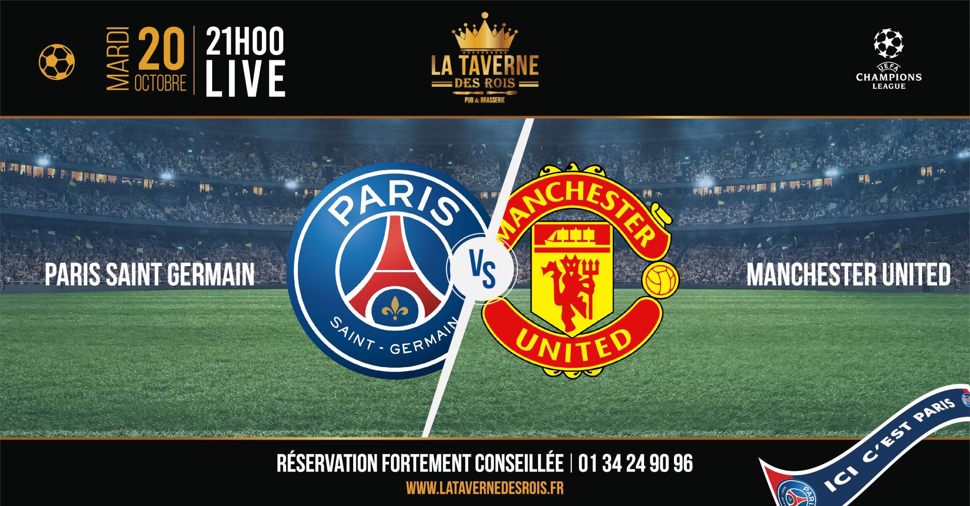 La Taverne des Rois, Cergy, PSG vs Manchester United, 20 octobre 2020